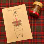 とても簡単!ダイソー商品だけで作るオリジナルクリスマスカード①